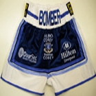 tony bellew velvet blue custom made boxing shorts and ring jacket everton liverpool rotunda abc amateur kits suzi wong creations rival boxing