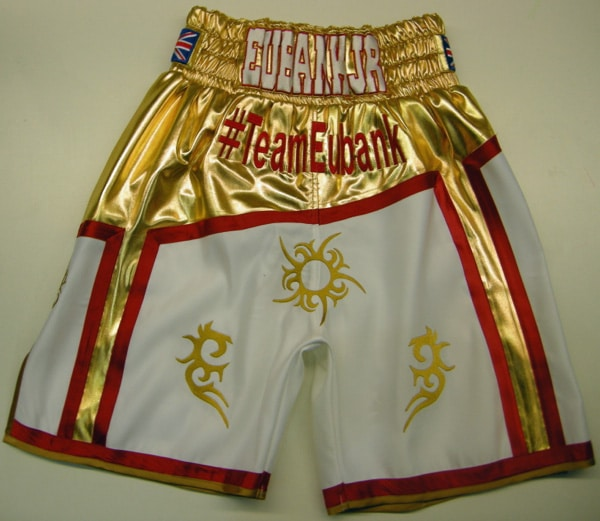 Eubank Jr Gold And White Boxing Shorts