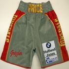 david price heavyweight tyson fury tony thompson derek chisora david haye custom made boxing shorts and robe lonsdale sponsored suzi wong creations made