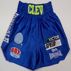 nathan cleverley blue satin boxxerworld suzi wong creations designs hand made custom made trunks wales brtish made suzi wong creations satin velvet sparkle