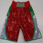 wales custom made boxing shorts red and silver green sparkle outline embroidery names suzi wong creations boxfit
