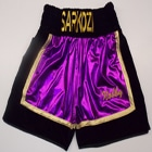 custom purple boxing shorts and ring jacket hand made suzi wong creations
