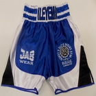 blue satin boxing shorts custom made suzi wong creations black satin
