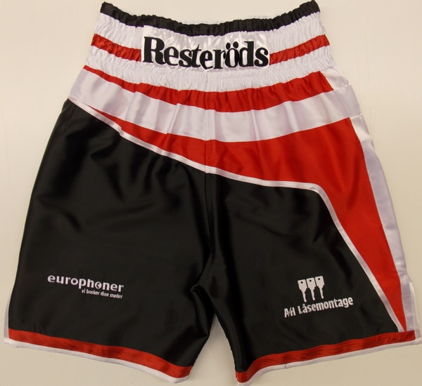 patrick neilson sauerland brothers danish denmark boxing boxer white black red trunks suzi wong creations custom made design made in england