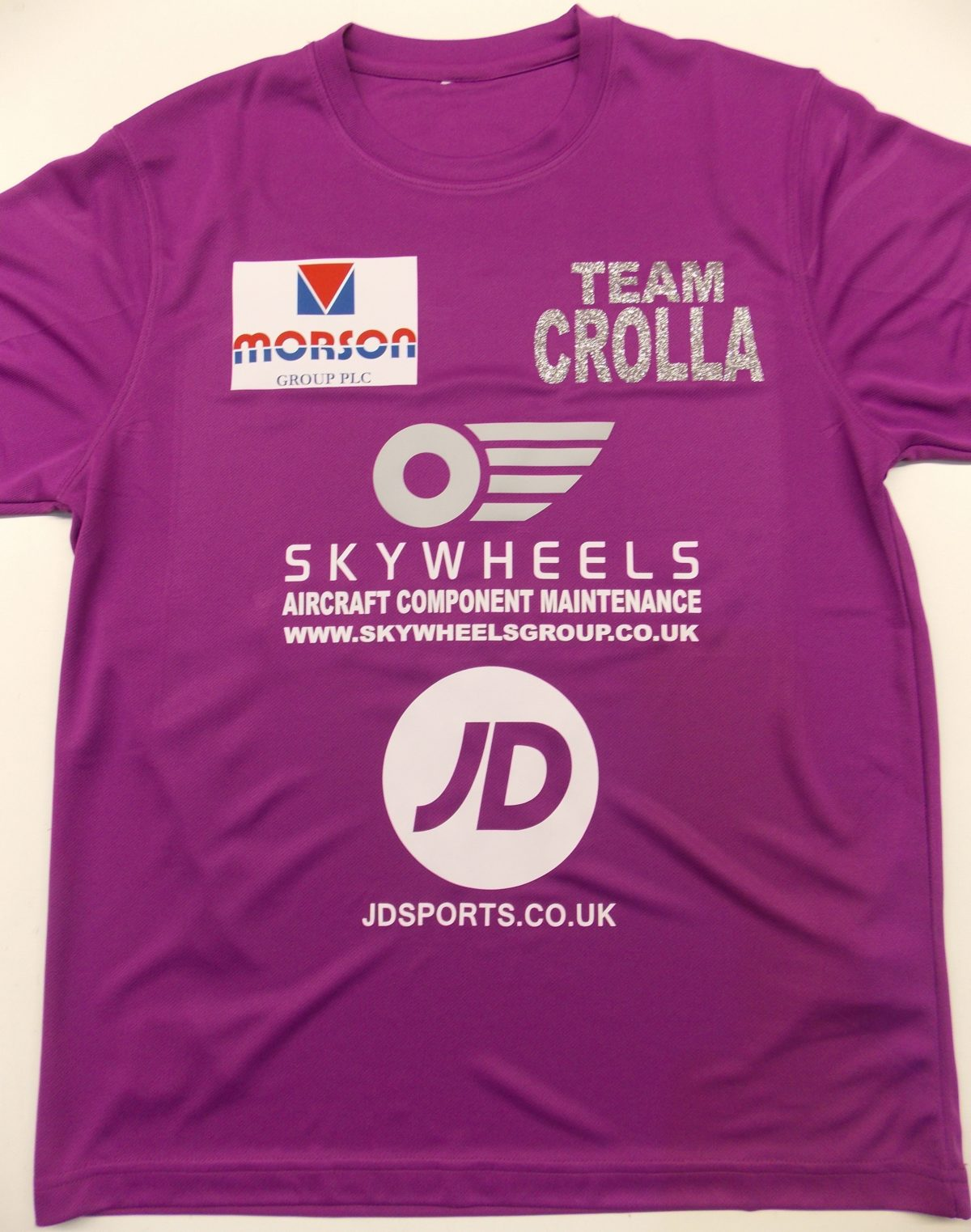 team crolla t shirt front