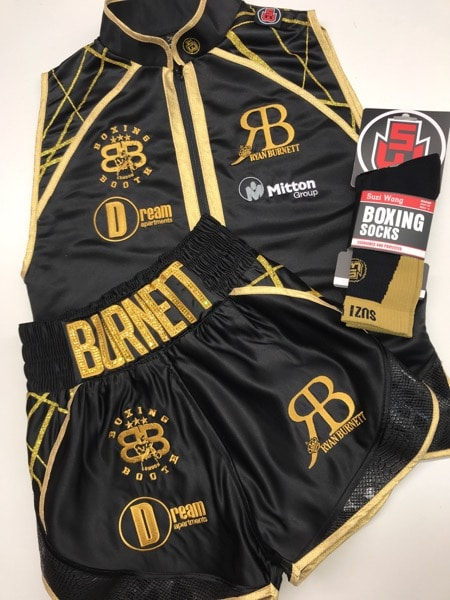 Burnett Black and Gold Boxing Kit