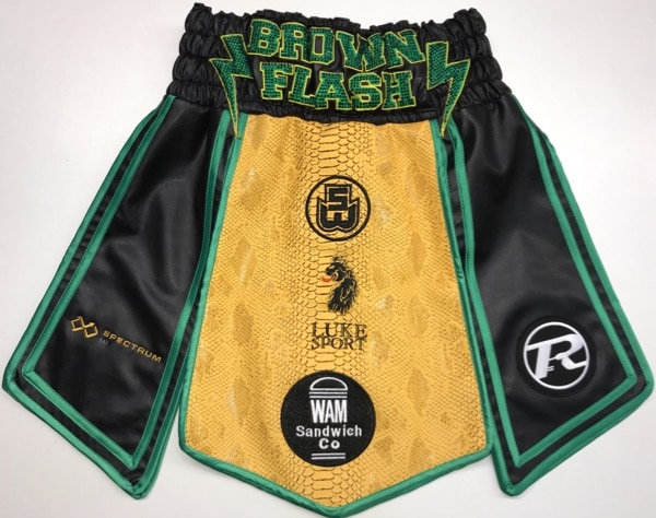 Brown Flash Gladiator Style Boxing Shorts