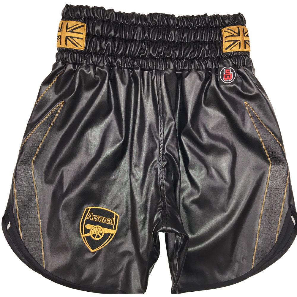 black and gold boxing shorts james Degale