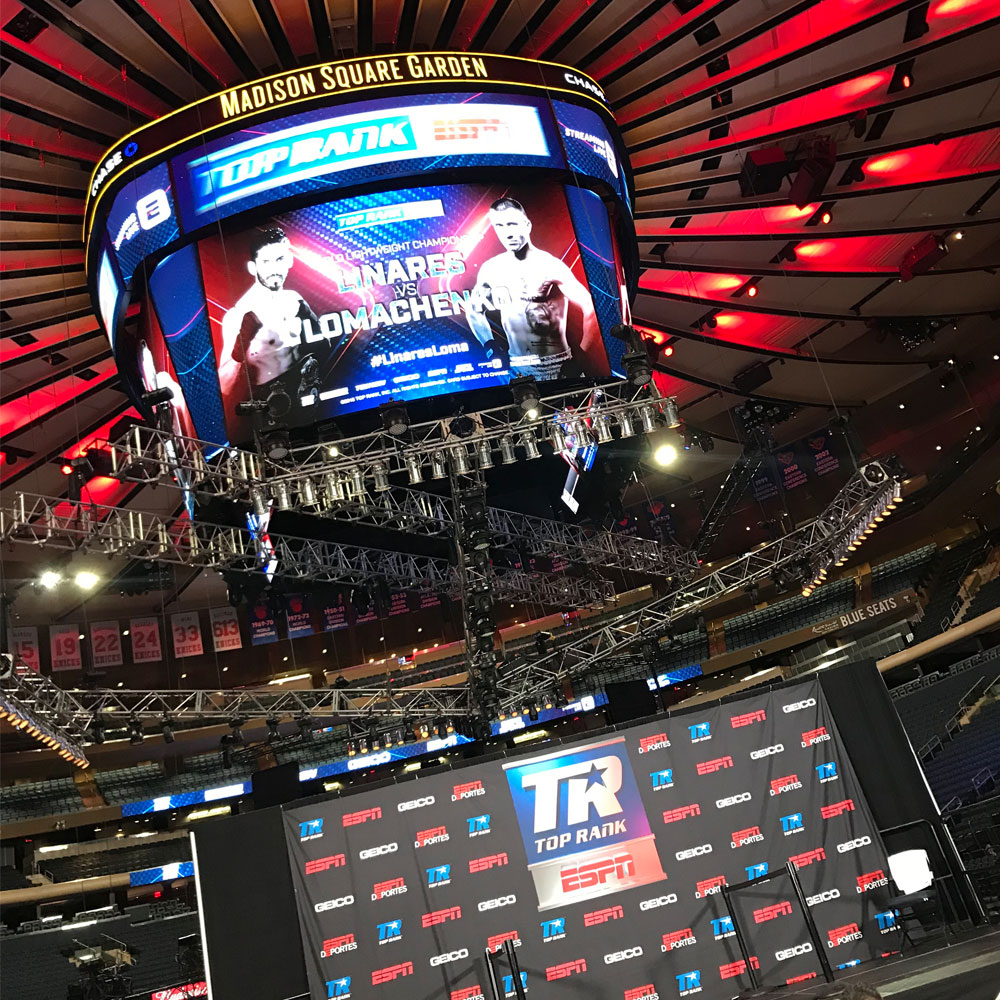 Madison square garden weigh in lianes Loma