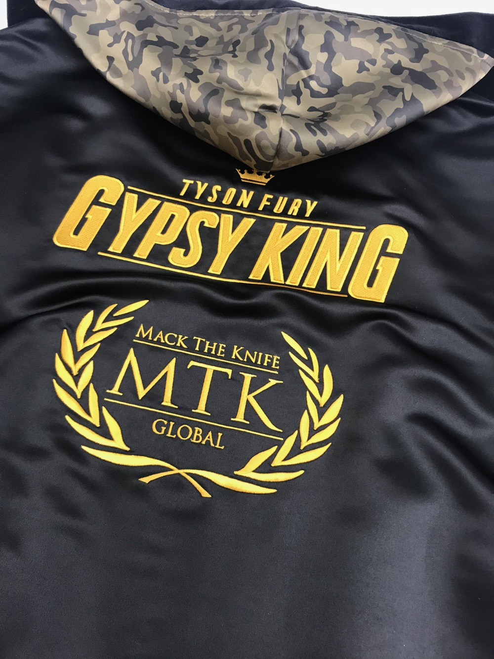 b4aeb7a663d Tyson Fury Camouflage Boxing Shorts and Robe | Suzi Wong Creations